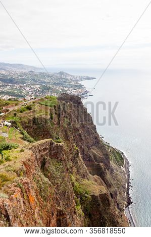 Cabo Girao View.  The View Looking Towards Funchal From Cabo Girao Viewpoint On The Portuguese Islan
