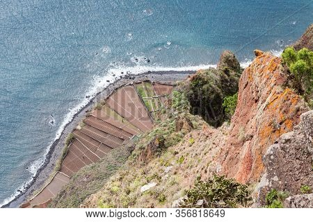 Cabo Girao Viewpoint.  The Cabo Girao Viewpoint Is On The Portuguese Island Of Madeira And Is An Ele