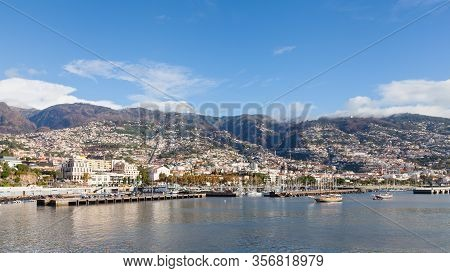 Funchal Waterfront.  The Waterfront Of Funchal On The Portuguese Island Of Madeira.
