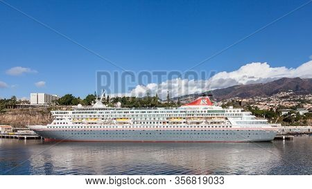 Funchal, Madeira, Portugal - November 3:  The Fred Olsen Cruise Ship, Balmoral, Is Pictured Moored O