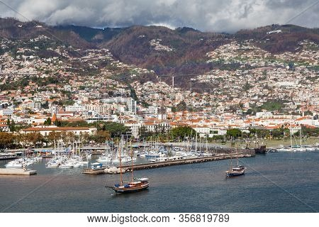 Funchal, Madeira, Portugal - November 3:  The Waterfront Of Funchal On The Portuguese Island Of Made