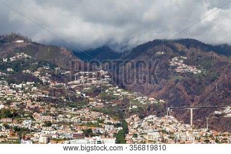 Funchal Hillside.  The Hillside Above Funchal On The Portuguese Island Of Madeira.