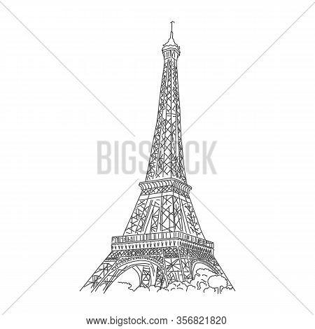 Visiting Famous Landmark France, Eiffel Tower. Romantic Place For Dating. Architectural Landmark Par