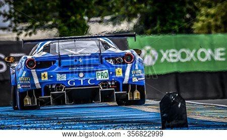 Le Mans / France - June 15-16 2019: 24 Hours Of Le Mans, Rizi Competizione Team , Ferrari 488 Gtepro