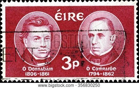 02.09.2020 Divnoe Stavropol Territory Russia Postage Stamp Ireland 1962 The 100th Anniversary Of Joh
