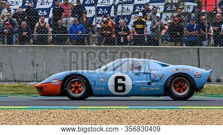 Le Mans / France - June 15-16 2019: 24 Hours Of Le Mans, On The Track Of Race 24 Hours Of Le Mans Wi