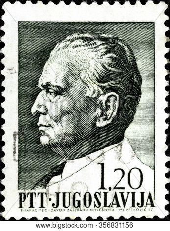 02.11.2020 Divnoe Stavropol Territory Russia The Postage Stamp Yugoslavia 1972 President Tito Portra
