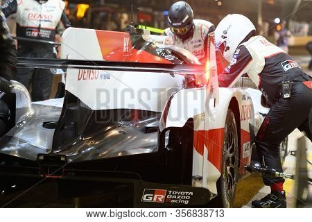 Le Mans / France - June 15-16 2019: 24 Hours Of Le Mans, Toyota Gazoo Racing  Team , Toyota Ts050 Hy
