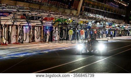 Le Mans / France - June 15-16 2019: 24 Hours Of Le Mans, G-drive Racing  Team , Aurus 01 Lmp2 Restar