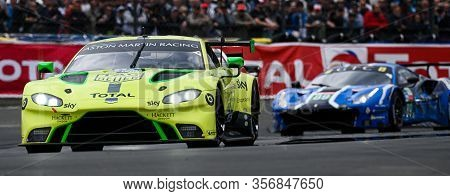 Le Mans / France - June 15-16 2019: 24 Hours Of Le Mans, Aston Mrtin Racingteam, Aston Martin Vantag