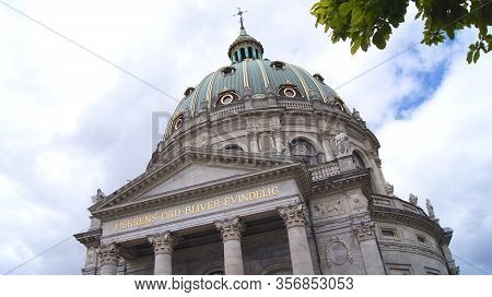 Copenhagen, Denmark - Jul 06th, 2015: Frederiks Church Frederiks Kirke Popularly Known As The Marble