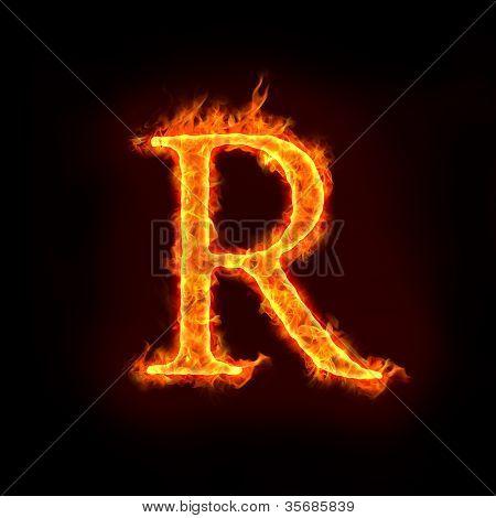 Fire Alphabets, R