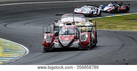 Le Mans / France - June 15-16 2019: 24 Hours Of Le Mans, Idec Sport Team, Oreca07  Lmp2, Race Of The