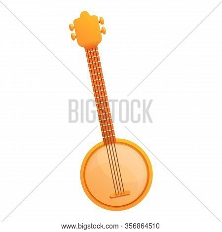 Mexican Banjo Icon. Cartoon Of Mexican Banjo Vector Icon For Web Design Isolated On White Background