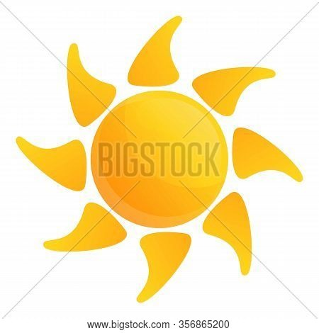 Desert Sun Icon. Cartoon Of Desert Sun Vector Icon For Web Design Isolated On White Background