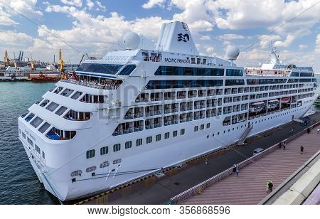 Odessa, Ukraine - July 22, 2013: Ms Pacific Princess Is A Cruise Ship Owned By Princess Cruises And