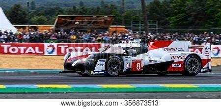 Le Mans / France - June 15-16 2019: 24 Hours Of Le Mans, Toyota Gazoo Racing Team, Toyota Ts050 Hybr