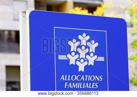 Bordeaux , Aquitaine / France - 10 17 2019 : Caisse Allocations Familiales Logo Sign Means Caf Famil