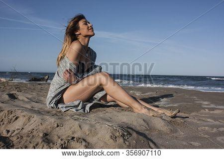 Relaxed Girl On The Beach 2