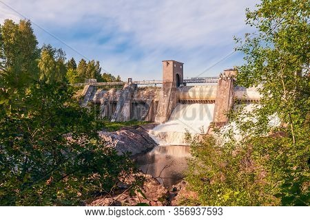 The Imatra Rapids (imatrankoski) On The Vuoksi River In Imatra. National Landscape Of Finland. Start