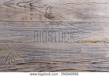 Wood Texture Background. Gray Wooden Surface With Knots And Cracks. Textured Wood Background. Beauti