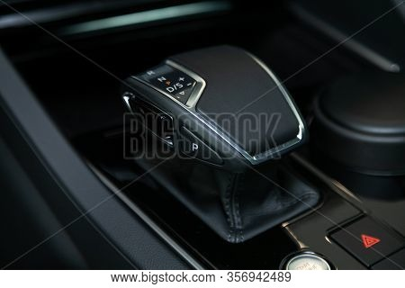 Novosibirsk, Russia - March 09, 2020:  Volkswagen Touareg, Close-up View Of The Automatic Gearbox Le