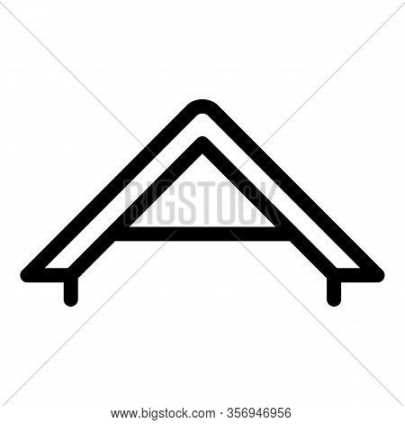 Gable Roof Icon. Outline Gable Roof Vector Icon For Web Design Isolated On White Background
