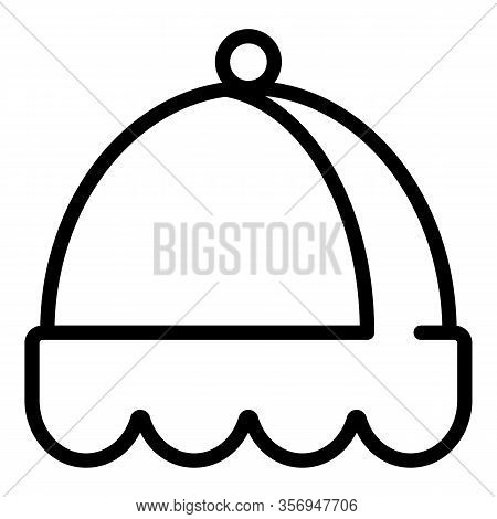 Felt Hat Icon. Outline Felt Hat Vector Icon For Web Design Isolated On White Background