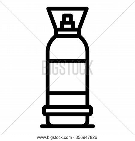 Vertical Gas Cylinder Icon. Outline Vertical Gas Cylinder Vector Icon For Web Design Isolated On Whi