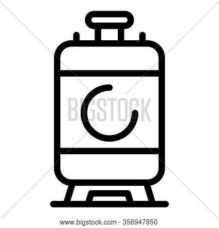 Carbon Dioxide Cylinder Icon. Outline Carbon Dioxide Cylinder Vector Icon For Web Design Isolated On