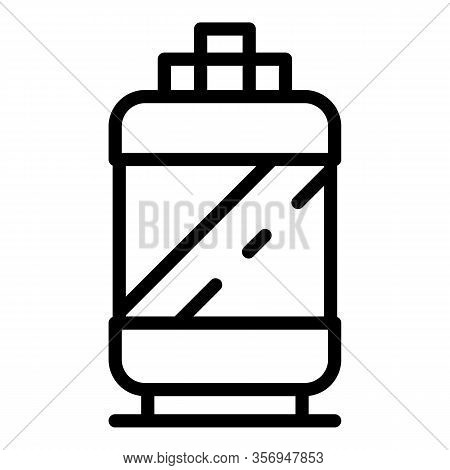 Cylinder With Ammonia Icon. Outline Cylinder With Ammonia Vector Icon For Web Design Isolated On Whi