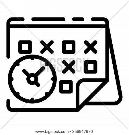 Temporary Calendar Icon. Outline Temporary Calendar Vector Icon For Web Design Isolated On White Bac