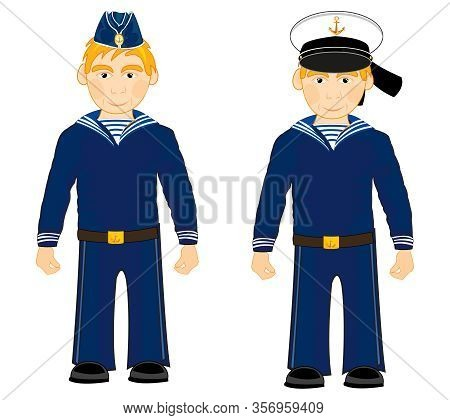 Vector Illustration Two Sailors In Year Form