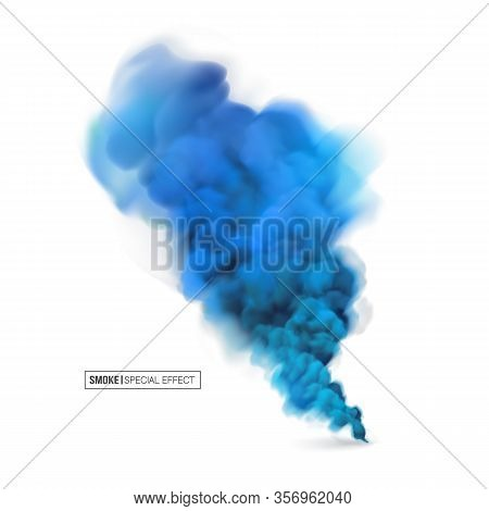 Realistic Multi-colored Smoke On A White Background. Colored Smoke Bombs.isolated Fog Or Smoke, Tran