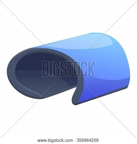 Flexible Tablet Icon. Cartoon Of Flexible Tablet Vector Icon For Web Design Isolated On White Backgr