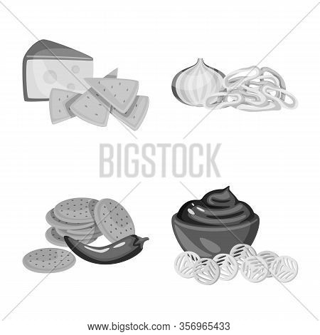 Vector Design Of Taste And Cooking Icon. Collection Of Taste And Seasonin Vector Icon For Stock.