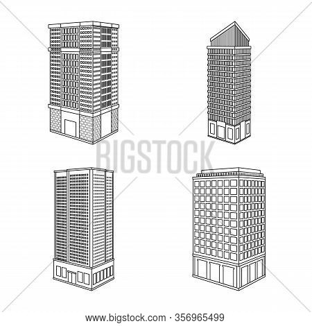 Isolated Object Of Home And Apartment Icon. Collection Of Home And Modern Vector Icon For Stock.