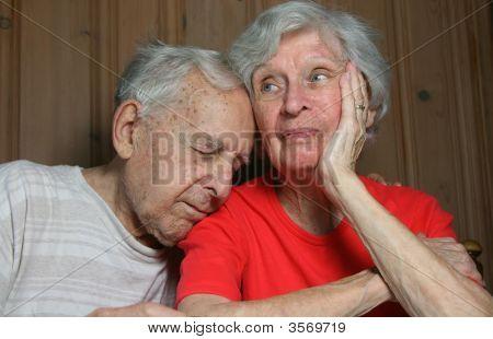 Elderly Bored Married Couple