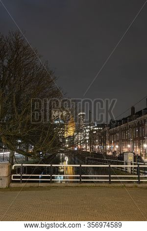 The Hague, The Netherlands - 18 February 2019: : The Hague, The Netherlands. Skyline Of The Hague At