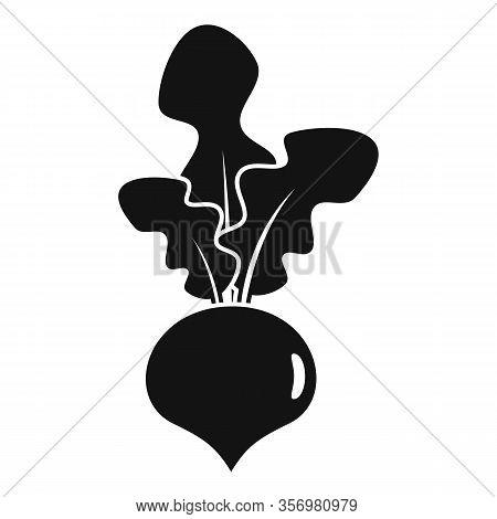 Garden Beet Icon. Simple Illustration Of Garden Beet Vector Icon For Web Design Isolated On White Ba