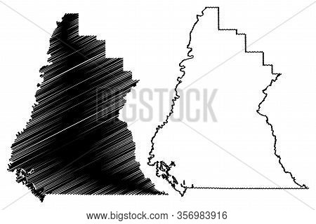 Liberty County, Florida (u.s. County, United States Of America, Usa, U.s., Us) Map Vector Illustrati