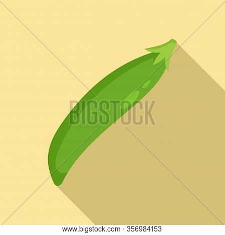 Fresh Peas Icon. Flat Illustration Of Fresh Peas Vector Icon For Web Design