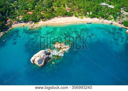 Tanote bay aerial view, Koh Tao, Thailand