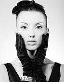 Vogue style vintage portrait poster