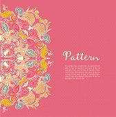 Ornamental round seamless lace pattern. Ornamental round floral lace pattern. kaleidoscopic floral pattern mandala. poster