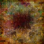 Grunge abstract background with old torn posters with blur text poster