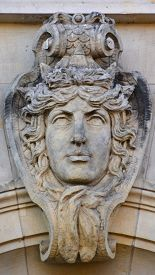 Berlin Germany 09 22 17: Details Of  Building Art Nouveau Is An International Style Of Art, Architec
