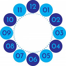 Clock Dial Enormous Numbers In Circle Hourly Blue On Blue Blue 2020 Seconds On Transparent Backgroun