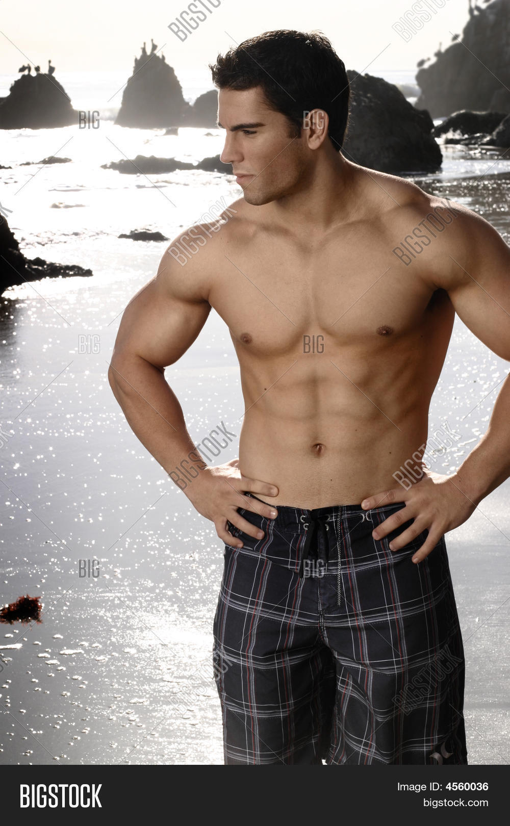 young fit man image photo free trial bigstock