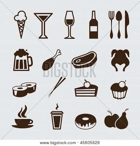 Food And Drink, Icons Set